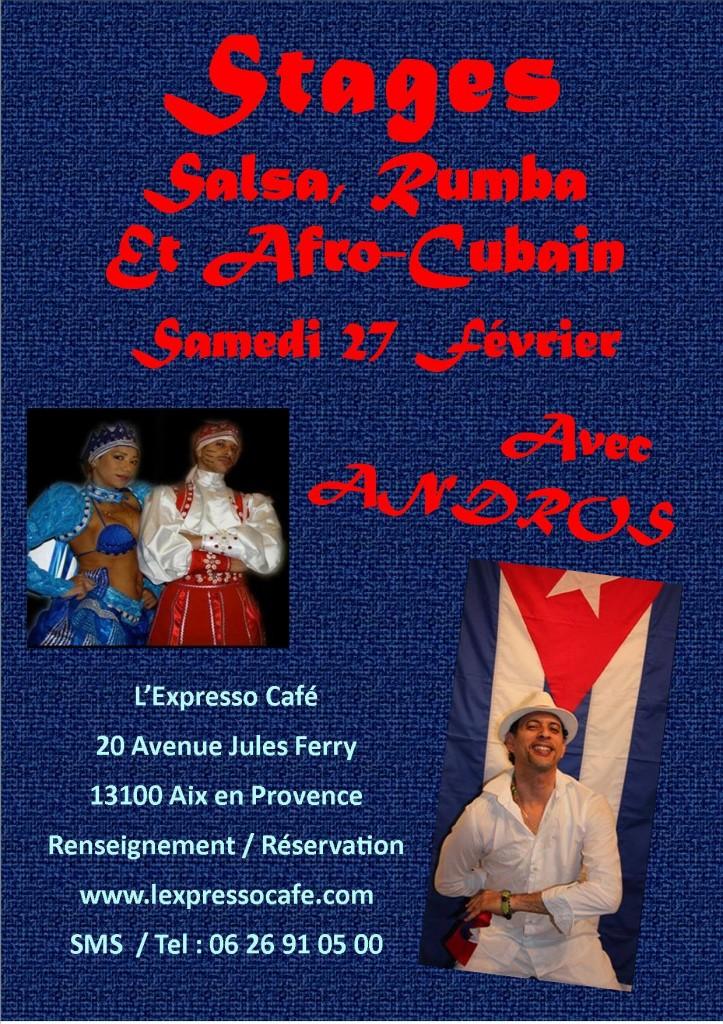 stage rumba, afro-cubain et salsa cubaine