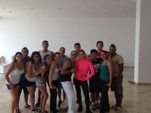 élèves salsa mayan congress cancun 2013