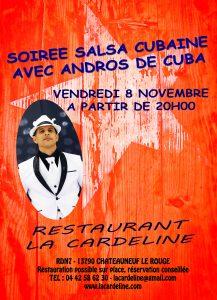 soirée salsa cubaine à 10 min d'Aix